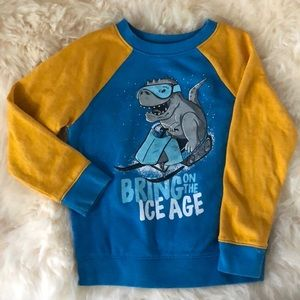 CAT & JACK blue and yellow sweater- 5T toddler